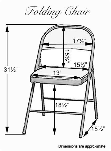 SIZING INFORMATION. Here Are The Dimensions Our Standard Folding Chair  Covers ...