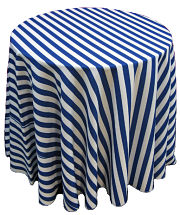 Awning Stripes Round Tablecloth Part 47