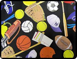 "Sports 54"" Square Tablecloths"