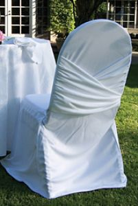 White Wrapaorund Chair Cover