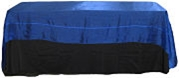 Crystal Organza Banquet Tablecloth in Royal Blue