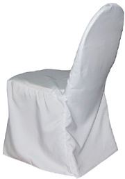 Polyester Banquet Chair Cover in White