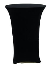 Black Spandex Cocktail Tablecloth