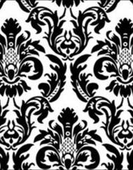Linen N Chair Covers - Black/White Damask