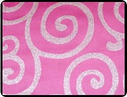 Metallic Scroll Fabric