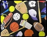 "Sports 90"" Round Tablecloths"