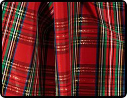 Plaid Basic Box Pleat Skirts