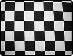 "Racing Checks 12"" x 72"" Table Runner"
