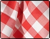 "Picnic Checks 54"" Square Tablecloths"
