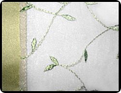 "Embroidered Organza 12"" x 72"" Table Runner"