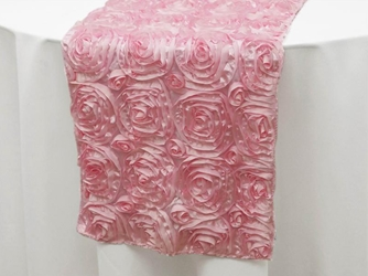 Rose Satin Table Runner