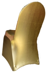 Gold Metallic Spandex Banquet Chair Cover