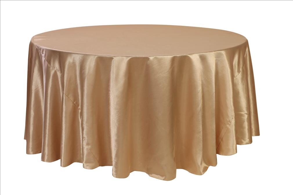 Champagne Satin Tablecloth