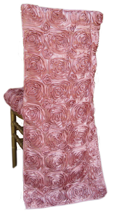 Rose Satin Tuxedo Chair Cap