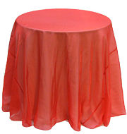 Crystal Organza Round Tablecloth in Cherry Red