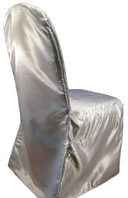 Poly Satin Banquet Chair Cover in White