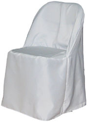 Polyester Folding Chair Cover in White