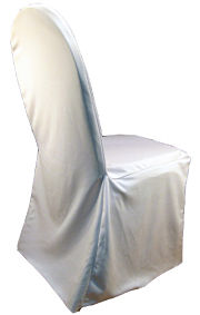 White Stretch Banquet Chair Cover